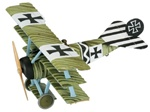 German Fokker Dr.1 Triplane Fighter - Leutnant Johannes Janzen, Jasta 6, March 1918