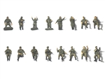 Russian Modern Crew and Soldier Set - Green [16 Figures]