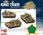 German Sd. Kfz. 182 PzKpfw VI King Tiger Heavy Tank Series: Limited Edition German King Tiger Heavy Tank - schwere SS Panzer Abteilung 501 w/ Fallschirmjager Figures