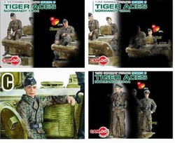 German Tiger Aces Normandy, 1944 - Four Piece Set