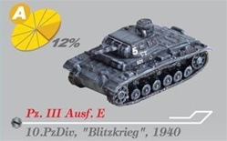 German Sd. Kfz. 141 PzKpfw III Medium Tank Series: Panzer III Ausf. E Medium Tank - 10.Panzer Division, 1940