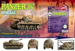 German Sd. Kfz. 161 PzKpfw IV Medium Tank Series: Limited Edition German Flakpanzer IV Kugelblitz Anti-Aircraft Vehicle