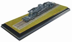 German 60cm Heavy Mortar w/Railway Transporter and Embankment - Grey