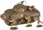 US M4A3 Sherman Medium Tank with 3 Figures - Battle of the Bulge, December 1944