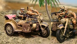 German BMW R75 Motorcycle Team 2-Figure Set - Deutsches Afrika Korps