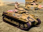 German Sd. Kfz. 121 PzKpfw I Ausf. B Light Tank with Commander - Deutsches Afrika Korps