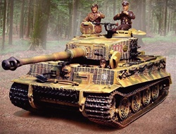 German Late Production Sd. Kfz. 181 PzKpfw VI Tiger I Heavy Tank with Zimmerit - Michael Wittmann, 222, schwere SS Panzer Abteilung 101, Villers Bocage, France, 1944