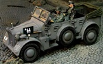 German Horch Command Car with Driver and Wilhelm Bittrich, 9.SS-Panzer-Division Hohenstaufen