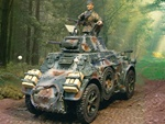 German AB 43 Armored Car with 3 Figures - Normandy, 1944