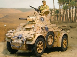 German AB 43 Armored Car with 3 Figures - Deutsches Afrika Korps