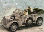 German Horch Radio Car with Driver and Radio Operator - Kampfgruppe Peiper, Battle of the Bulge, 1944