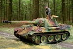 German Late Version Sd. Kfz. 171 PzKpfw V Panther Ausf. G Medium Tank with Zimmerit - Normandy, 1944