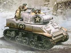 US 75 mm Howitzer Motor Carriage M8 Tank - Ardennes, 1944