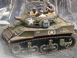 US 75 mm Howitzer Motor Carriage M8 Tank - Normandy, 1944