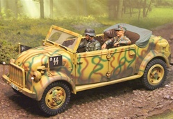 German Steyr 1500A/01 Kommandeurwagen Command Vehicle - Sepp Dietrichs Command Car, Normandy, 1944