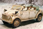 German Steyr 1500A/01 Kommandeurwagen Command Vehicle - Battle of the Bulge, 1944
