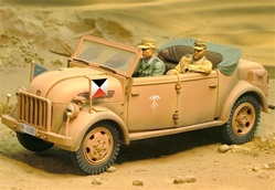 German Steyr 1500A/01 Kommandeurwagen Command Vehicle - Rommels Command Car, Deutsches Afrika Korps