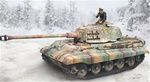 German Sd. Kfz. 182 PzKpfw VI King Tiger Ausf. B Heavy Tank - Winter Camouflage