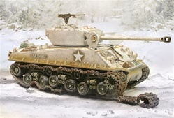 US M4A3E8 Sherman Medium Tank - Battle of the Bulge, 1944