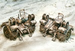 German 88mm Flak 36/37 Anti-Aircraft Gun Caisson (Two Pieces) - Winter 1944