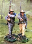 Confederate Army Marcher Set Two - 2-Piece Figure Set