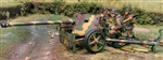 German PaK40 75mm Anti-Tank Gun with Crewman - Summer Camouflage