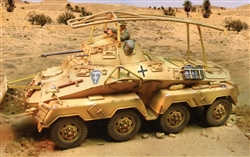 German Sd. Kfz. 232 Armored Car - Deutsches Afrika Korps