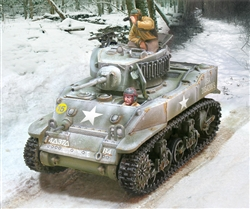 "US M5 Stuart Light Tank - ""Bombardier"", 4th Armored Division, Winter 1944"