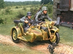 German Panzer Lehr BMW R75 Motorcycle Team - Two Figures