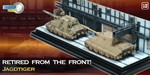 Retired from the Front Captured Jagdtigers Diorama