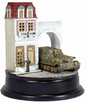 German Sd. Kfz. 184 Ferdinand Heavy Tank Destroyer with Zimmerit and Buildings Diorama - schwere Panzerjager Abteilung 653, Kursk, 1943