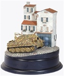 German RW61 Sturmtiger Rocket Assault Mortar and Buildings Diorama - Sturmmorser Kompanie 1001, Germany, 1945