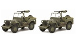 US Willys Jeep with .50 cal Heavy Machine Gun Twin Pack