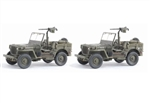 US Willys Jeep with .30 cal Heavy Machine Gun Twin Pack