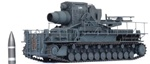 German Morser Karl Super Heavy Self-Propelled Mortar - 60cm Loki [Running Mode]