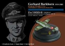 Limited Edition German Focke-Wulf Fw 190D-9 Dora-9 Fighter - Gerhard Barkhorn, Geschwaderkommodore Jagdgeschwader 6, Lower Silesia, 1945