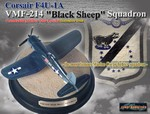 Limited Edition USMC Chance-Vought F4U-1A Corsair Fighter - Commanding Officer VMF-214 Black Sheep Squadron, Vella Lavella, December 1944