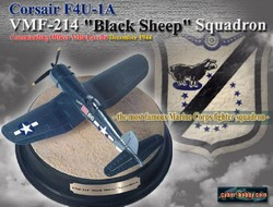 Limited Edition USMC Chance-Vought F4U-1A Corsair Fighter - Commanding Officer VMF-214 Black Sheep, Vella Lavella, December 1944