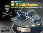Limited Edition USN Chance-Vought F4U-1A Corsair Fighter - Lt. Cdr. Roger R. Hedrick, VF-17 Jolly Rogers, Bougainville, March 1944