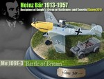 Limited Edition German Messerschmitt Me 109E-3 Fighter - Heniz Bar, Jagdgeschwader 51, Battle of Britain, Summer 1940