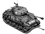 US M4A3E8 (76W) HVSS Sherman Medium Tank