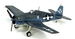 US Navy Grumman F6F-3 Hellcat Fighter - Lt. William C. Moseley, White 9, VF-1, USS Yorktown (CV-10), June 1944