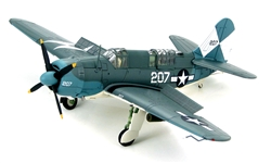 USN Curtiss SB2C-4 Helldiver ASW Aircraft - White 207, VB-83, USS Essex (CV-9), April 1945
