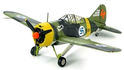 Finnish Brewster Model 239 Buffalo Fighter - Ilmari Juutilainen, Orange 4, 3/LeLv 24, Suulajarvi, Finland, December 1942
