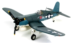 USMC Chance-Vought F4U-1A Corsair Fighter- Major Gregory Boyington, White 86, VMF-214 Black Sheep