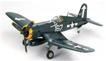 "USN Chance-Vought F4U-1D Corsair Fighter - Lt. Cdr. Roger Hedrick VF-84 ""Jolly Rogers"", Wing 167, USS Bunker Hill (CV-17), February 1945"