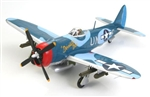"USAAF Republic P-47M Thunderbolt Fighter - Capt. John. C. Fahringer, ""Devastatin' Deb,"" 63rd Fighter Squadron, RAF Kings Cliffe, March 1945"
