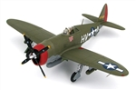 "USAAF Republic P-47D Thunderbolt Fighter -  42-75510, Lt. Col. Francis Gabreski, 61st Fighter Squadron ""Top Dogs"", Halesworth, England, January 1944"