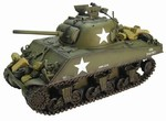 US M4A3 75mm Sherman Medium Tank with 3 Figures - Caballero, 69th Tank Battalion, 6th Armored Division, France, 1944
