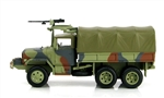 US M35 2-1/2-Ton Cargo Truck with M60 Machine Gun - Summer Verdant MERDC Camouflage